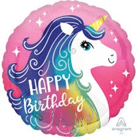 Happy Birthday Unicorn Folyo Balon