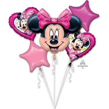 Minnie Mouse Folyo Balon Buketi