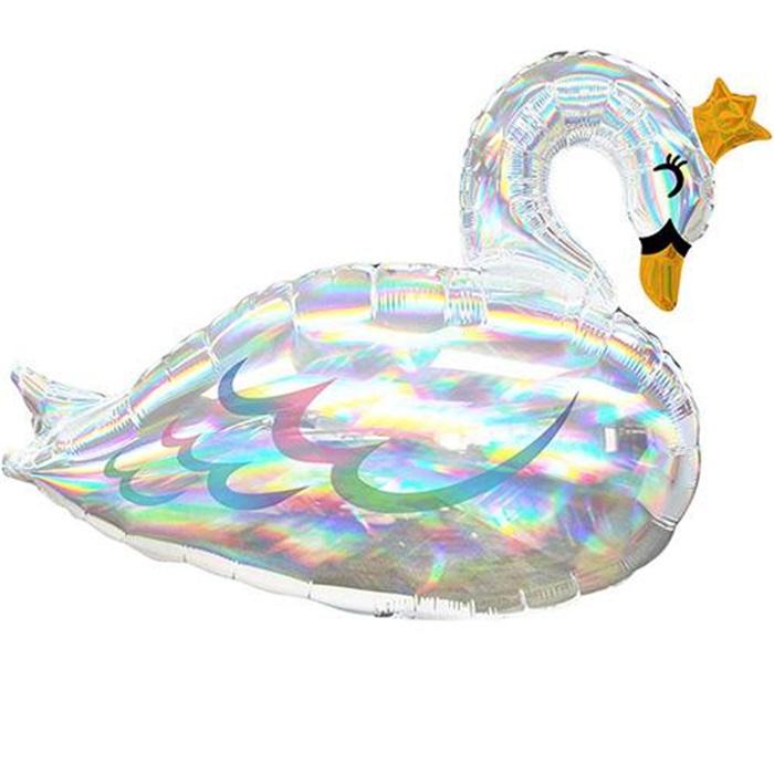 Parlak Kuğu Folyo Balon