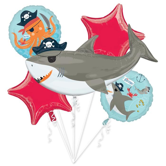 Köpek Balığı Folyo Balon Buketi