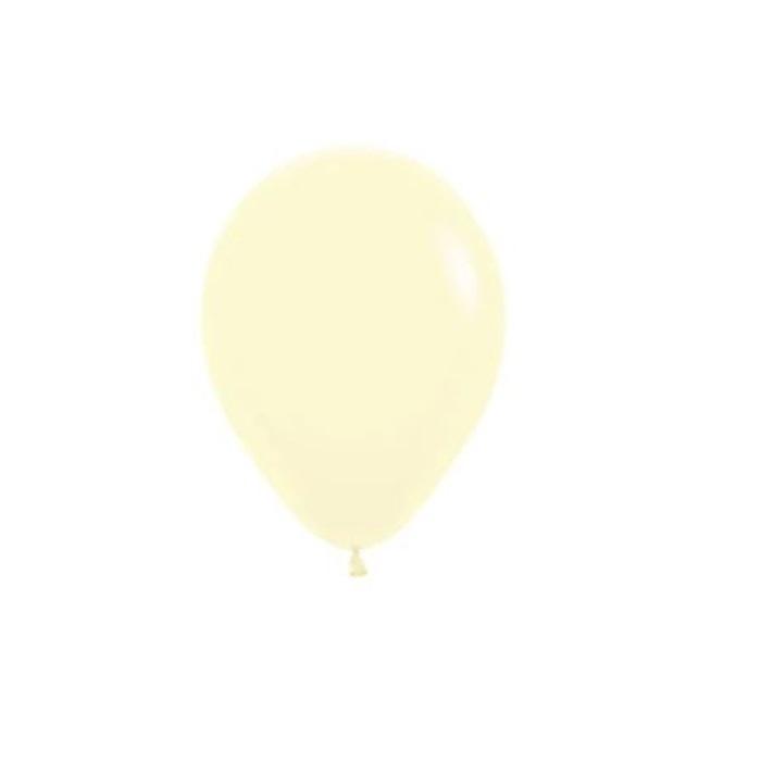 Mini Makaron Pastel Soft Balon Sarı