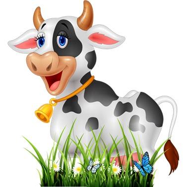 Çiftlik Hayvanları İnek Ayaklı Pano