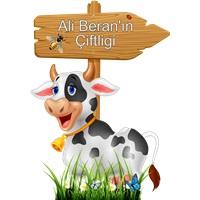Özel Çiftlik Hayvanları İnek Ayaklı Pano