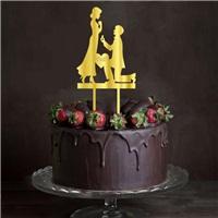 Evlilik Teklifi Pleksi Pasta Süsü