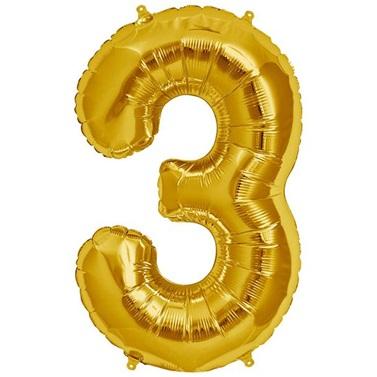 3 Folyo Balon Gold