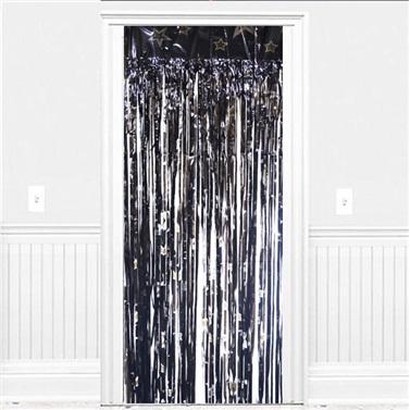 Siyah Yıldızlı Kapı Perdesi