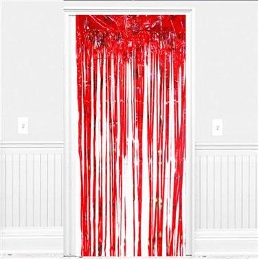 Kırmızı Yıldızlı Kapı Perdesi