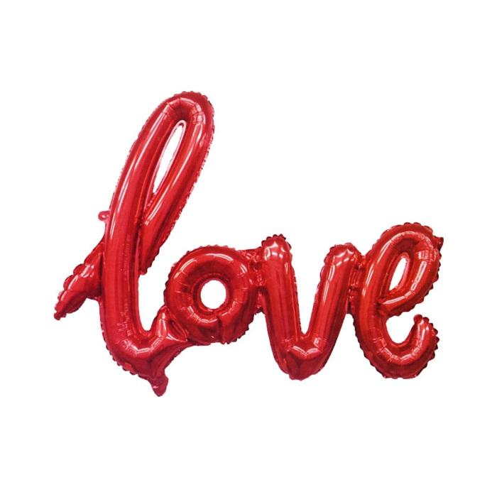 Kırmızı Love Folyo Balon