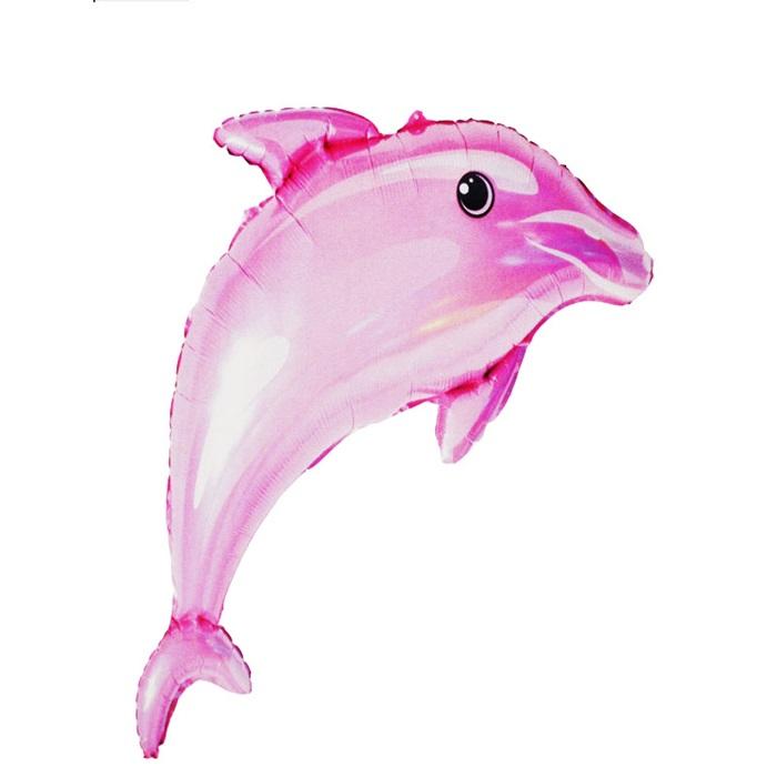 Yunus Balığı Folyo Balon Pembe