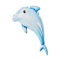 Yunus Balığı Folyo Balon Mavi