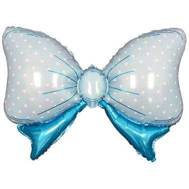 Mavi Puanlı Papyon Folyo Balon