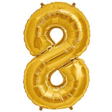 8 Folyo Balon Gold