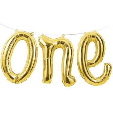 One Folyo Balon Gold