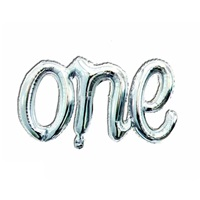 One Folyo Balon Gümüş