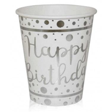 Happy Birthday Gümüş Bardak