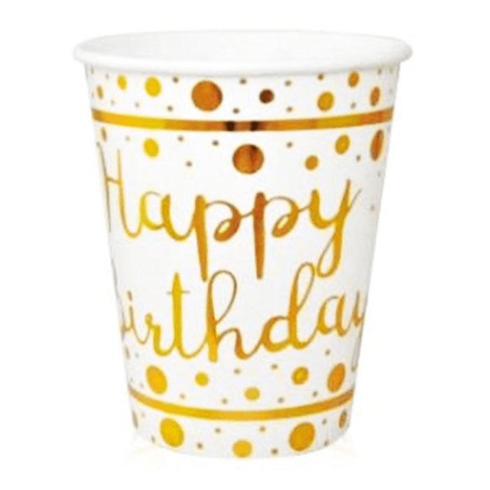 Happy Birthday Gold Bardak