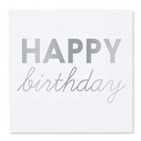 Happy Birthday Gümüş Peçete