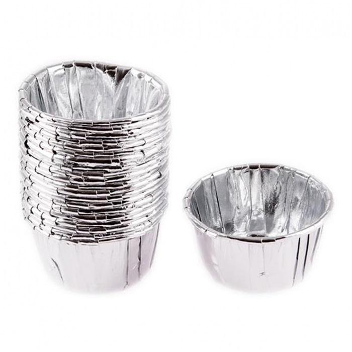 Metalik Gümüş Cupcake Kabı
