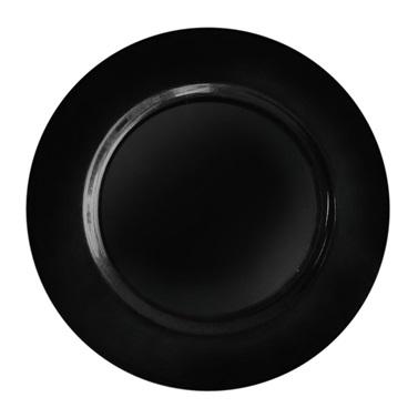 Siyah Plastik Yuvarlak Tabak