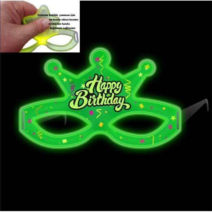 Glow Happy Birthday Gözlük