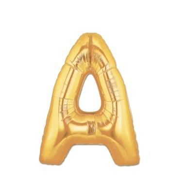 Altın A Harf Folyo Balon