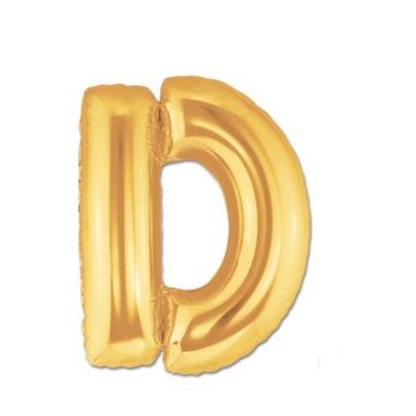 Altın D Harf Folyo Balon