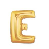 Altın E Harf Folyo Balon