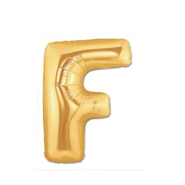 Altın F Harf Folyo Balon