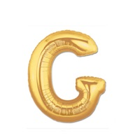 Altın G Harf Folyo Balon