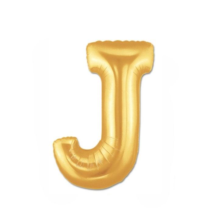 Altın J Harf Folyo Balon