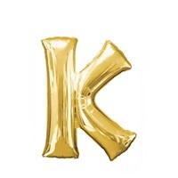 Altın K Harf Folyo Balon