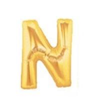 Altın N Harf Folyo Balon