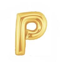 Altın P Harf Folyo Balon