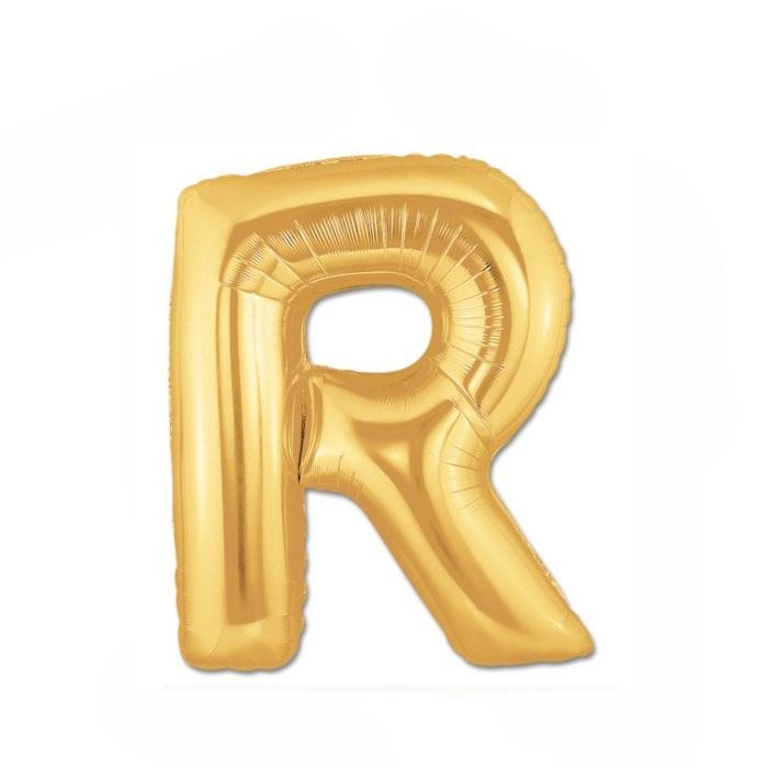 Altın R Harf Folyo Balon