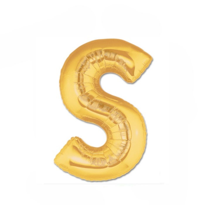 Altın S Harf Folyo Balon