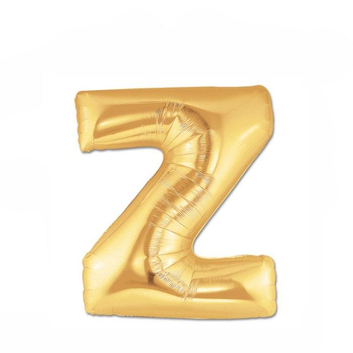 Altın Z Harf Folyo Balon