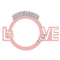 Just Merried Love Pembe Çerçeve