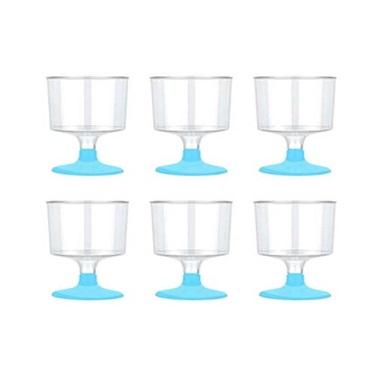 Açık Mavi Ayaklı Shot Bardağı