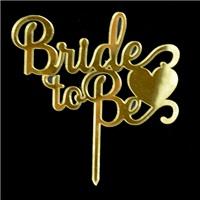 Bride Tobe Pleksi Pasta Süsü Gold