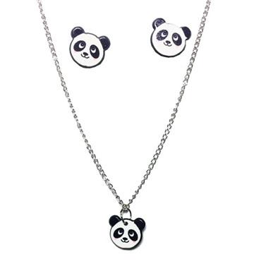 Panda Kolye Küpe Seti