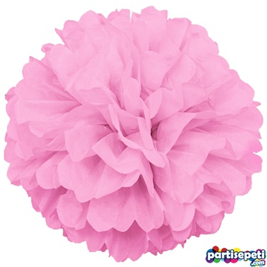 Ponpon Çiçek Süs Pembe