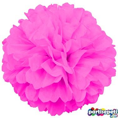 Ponpon Çiçek Süs Fuşya