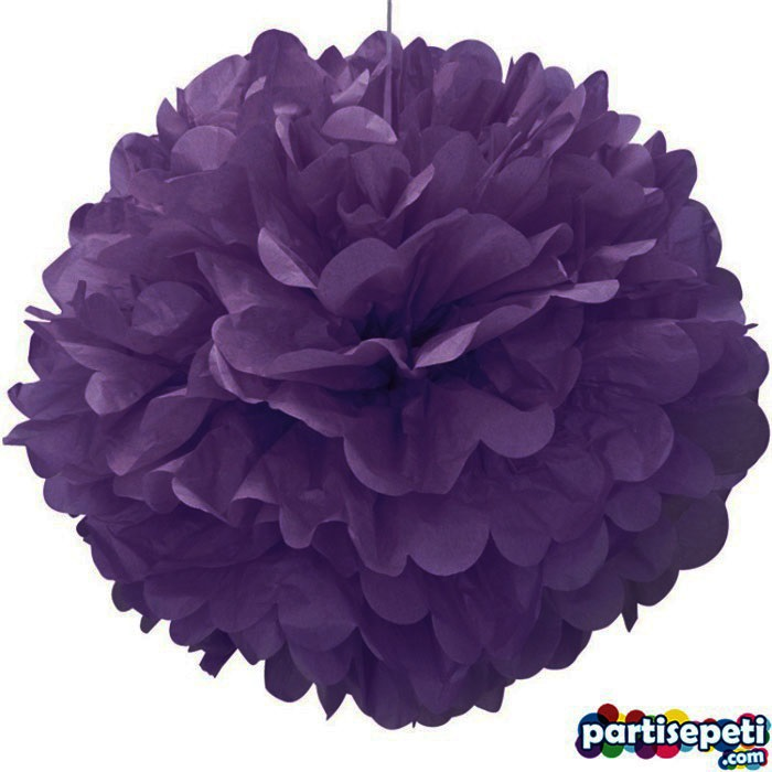 Ponpon Çiçek Süs Mor