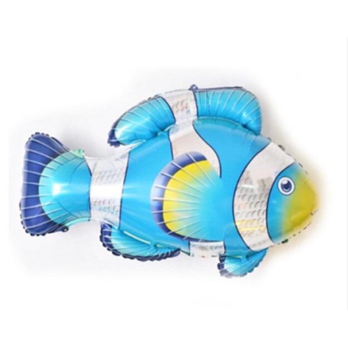 Mavi Balık Folyo Balon