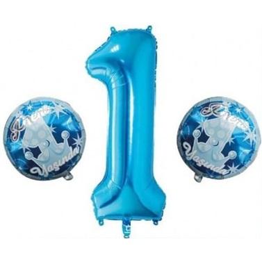 1 Yaş Prens Mavi Balon Seti