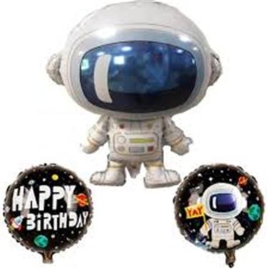 Uzay Temalı Astronot Folyo Balon