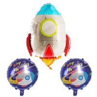 Uzay Temalı Roket Folyo Balon