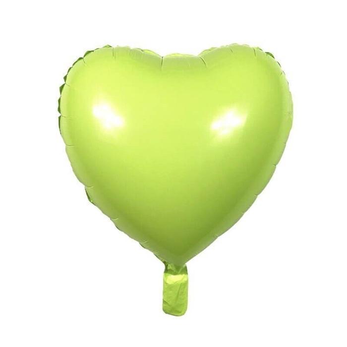 Soft Renk Yeşil Kalp Folyo Balon