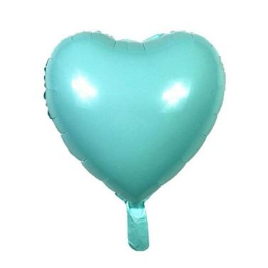 Soft Renk Turkuaz Kalp Folyo Balon