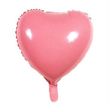 Soft Renk Pembe Kalp Folyo Balon